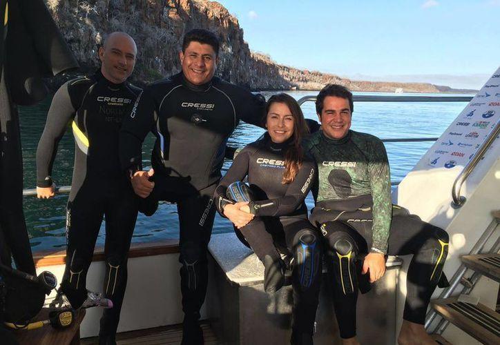 Los mejores buzos del mundo promueven la conservación del océano. (Tomás Álvarez/SIPSE)
