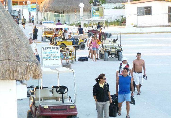 El alcalde reporta que se registra un 80% de ocupación turística en la isla. (Raúl Balam/SIPSE)