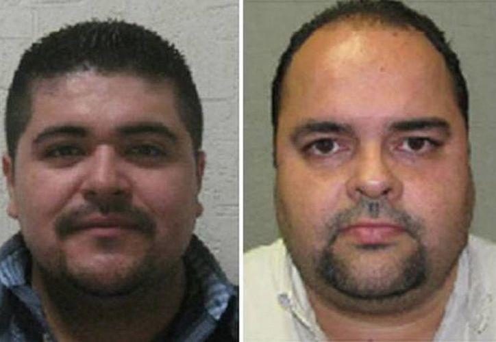 Imagen de Vladimir Arzate Carbajal (izq), y José Manuel Hernández López quienes fueron dejados en libertad en el caso de la compra-venta de bebés en Sonora. (Foto de la Procuraduría de Sonora)