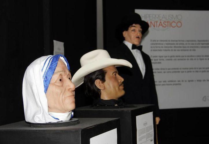 La exposición recrea con fidelidad los rostros de los personajes. (Juan Albornoz/SIPSE)