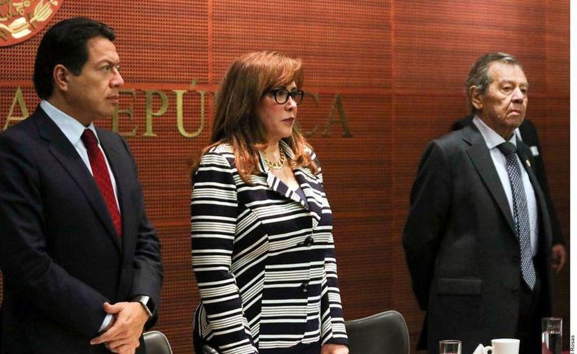 Entrevistada en el Senado de la República, Polevnsky aseguró que ella cubrió el costo del vuelo. (Foto: Israel Rosas)