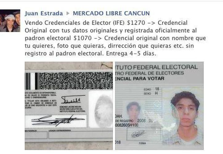 El usuario Juan Estrada publicó la polémica oferta. (Redacción/SIPSE)