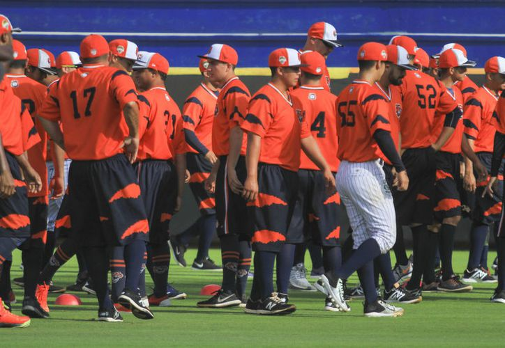 La novena felina está lista para los ensayos con miras a la campaña regular de Liga Mexicana de Béisbol.  Jugarán en los municipios yucatecos de Temozón y Tizimín. (Raúl Caballero/SIPSE)