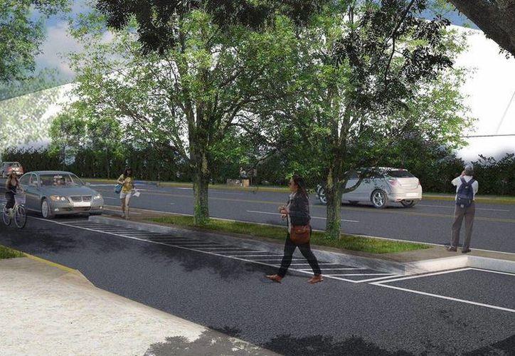 Este diseño muestra parcialmente cómo quedaría el Proyecto de Mejoramiento de Infraestructura Urbana Cordemex-Gran Plaza. (Fotos cortesía del Ayuntamiento de Mérida)