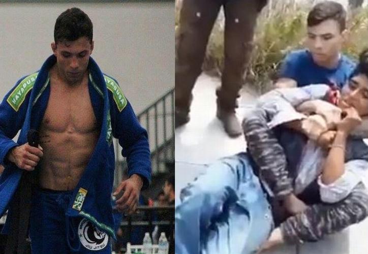 Alessandro Costa derribó al ladrón con la llave conocida como 'mataleón'. (Foto: BiNoticias)