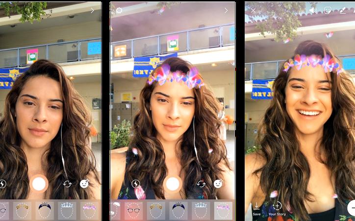 Para ingresar a la opción de máscaras sólo tienes que abrir la cámara de la aplicación. (Foto: SDP)