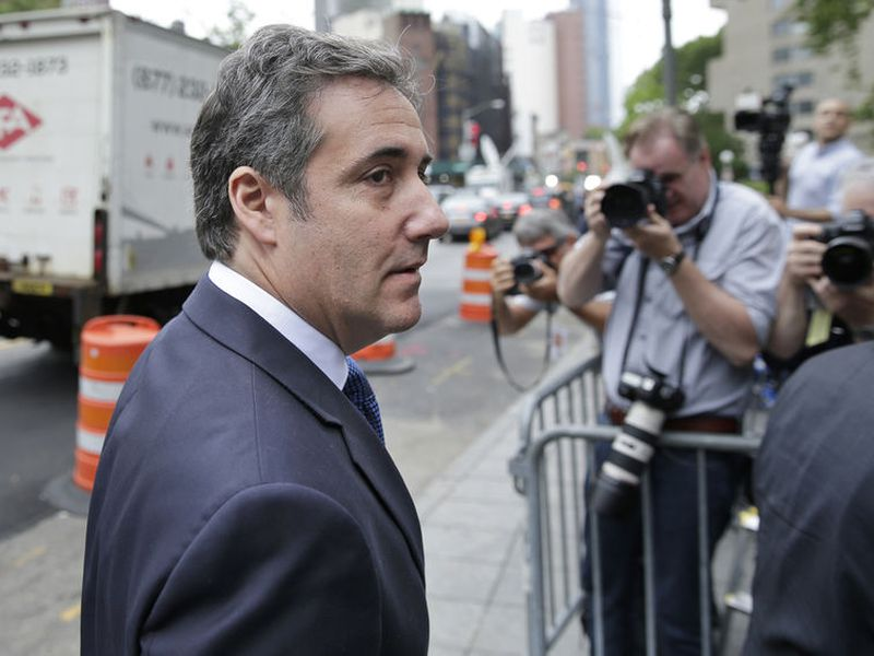 Michael  Cohen arrives to court in New York.