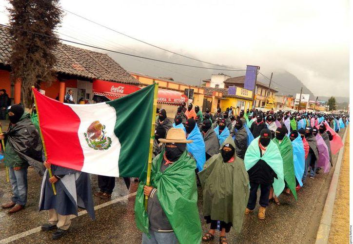 Las marchas pacíficas y sin que se reportaran incidentes concluyeron alrededor de las 14:00 horas.  (Agencia Reforma)