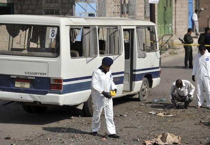Imagen de las consecuencias de una explosión en Saná, la capital de Yemen, el pasado día 9. (Archivo/EFE)