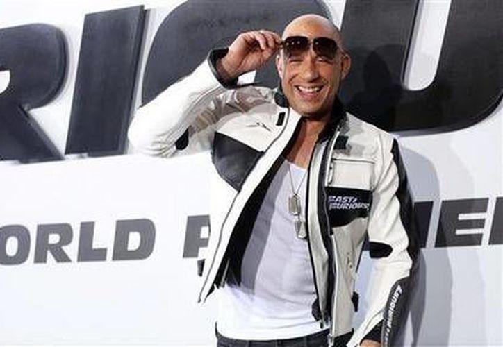 """Vin Diesel llega al estreno de """"Furious 7"""" en el Teatro Chino TCL IMAX, en Los Angeles, California. (Agencias)"""