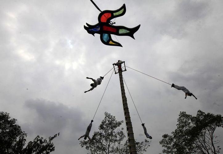 Hace ocho años se inauguró  la Escuela de Niños Voladores, en el Parque Takilhsukut, que recibe cerca de 65 niños y jóvenes que aspiran a seguir la tradición familiar. (Notimex)