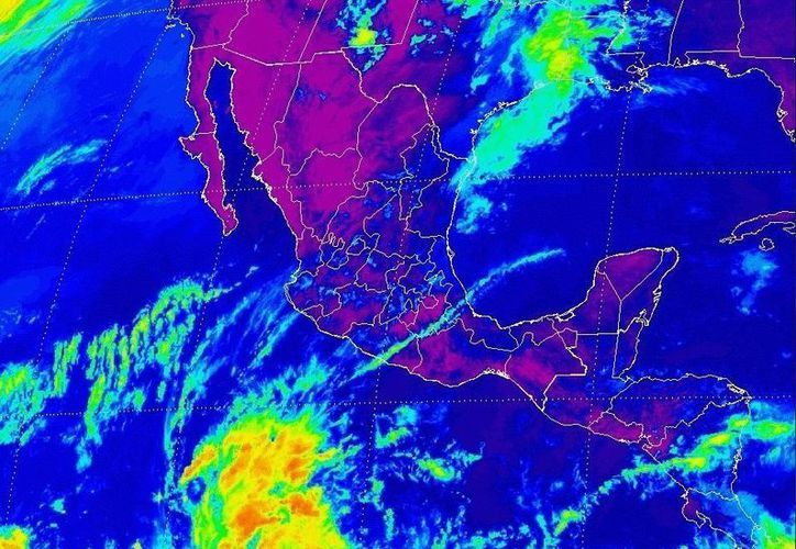 Imagen de satélite de la tormenta tropical 'Alvin', ubicada al sur de Guerrero. (Conagua)