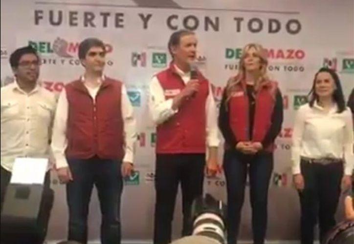 Alfredo del Mazo,  aseguró que diversas encuestas de salida le daban el primer lugar en los comicios. (Foto: Excélsior)
