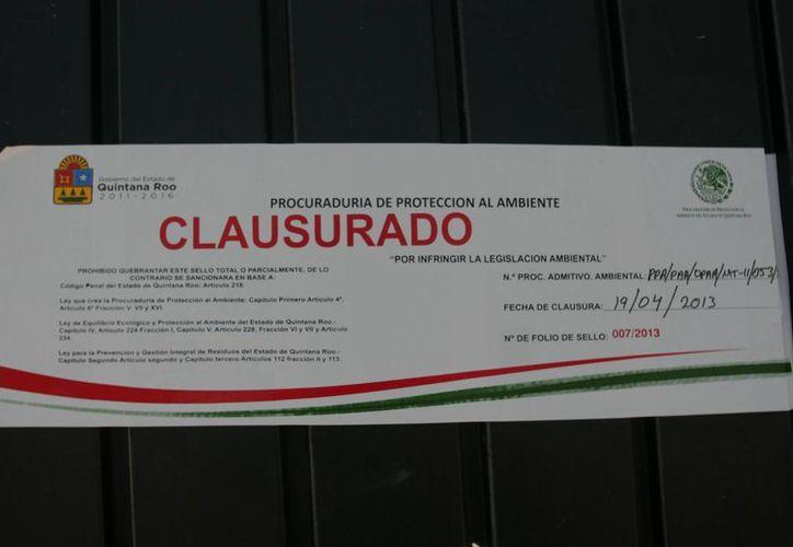 Alrededor de 30 empresas fueron clausuradas. (Harold Alcocer/SIPSE)
