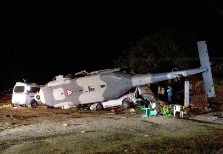 Ninguno de los ocupantes del helicóptero resultó herido. (Globalmedia)
