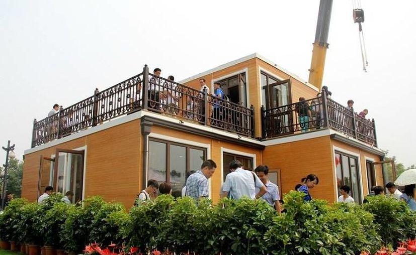 Las casas baratas y de rápida construcción en China serían una solución para el problema de la vivienda en países super poblados. (en.people.cn)