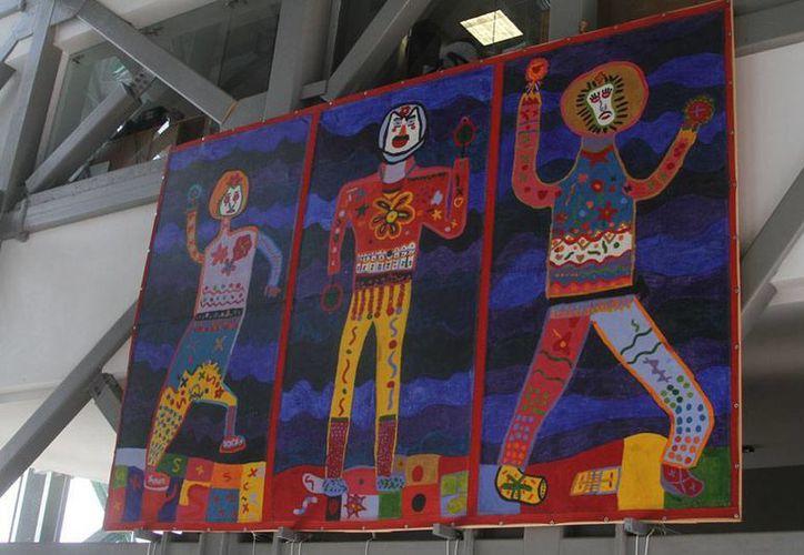 En el Gran Museo del Mundo Maya, se expondrán 18 pinturas hechas por niños de México. (César González/Milenio Novedades)