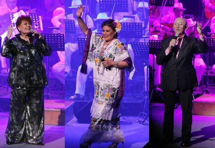 Imelda Miller, María Medina y Sergio Esquivel, durante su presentación en la inauguración del Otoño Cultural 2014. (Milenio Novedades)