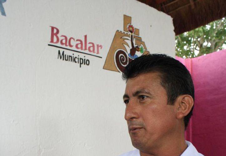 José Alfredo Contreras Méndez, presidente municipal de Bacalar. (Harold Alcocer/SIPSE)