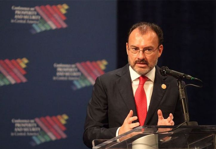 El secretario de Relaciones Exteriores, Luis Videgaray (Foto: @SRE_mx)