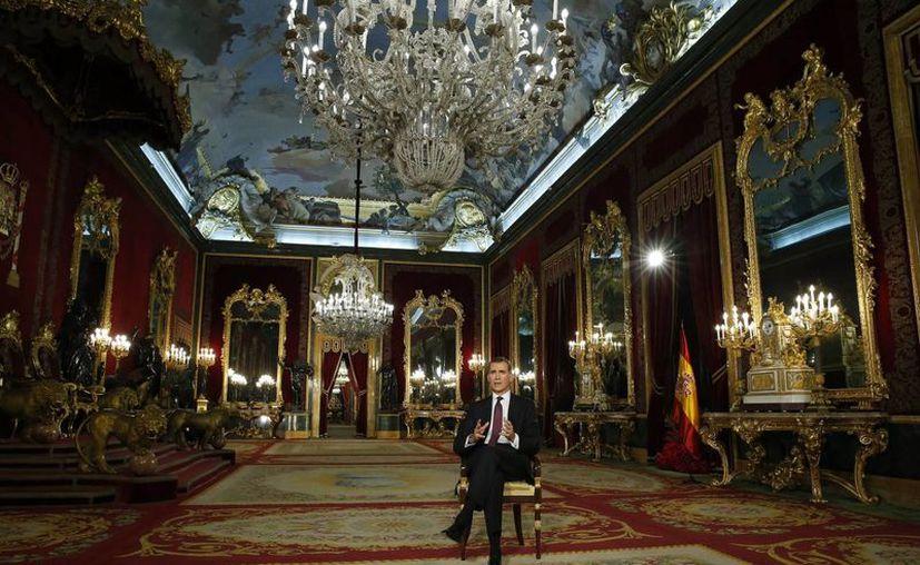 El rey Felipe VI de España abogó por la concordia y el entendimiento entre las fuerzas políticas del país. (AP)