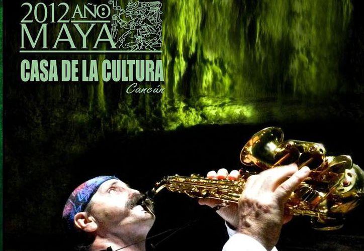 El concierto lo ofrecerá Alejandro Folgarolas, los intrumentos que utilizará son: el saxofón, caracol, ocarina y flauta a capella. (http://www.casaculturacancun.blogspot.mx/)