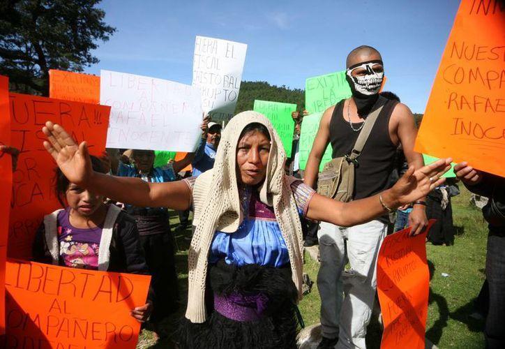 Indígenas tzotziles exigen la liberación de sus líderes detenidos en los altos de Chiapas. (Imagen de contexto/Notimex)