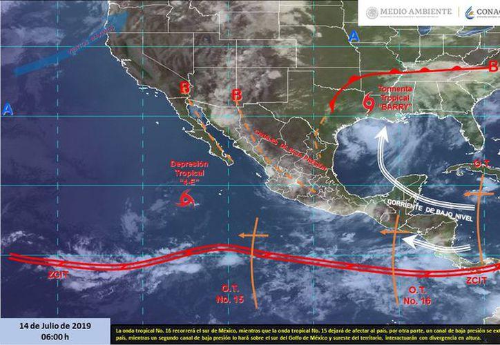 El sur del país presentará lluvias intensas, sin embargo Quintana Roo, será muy poco afectado. (Servicio Meteorológico Nacional)
