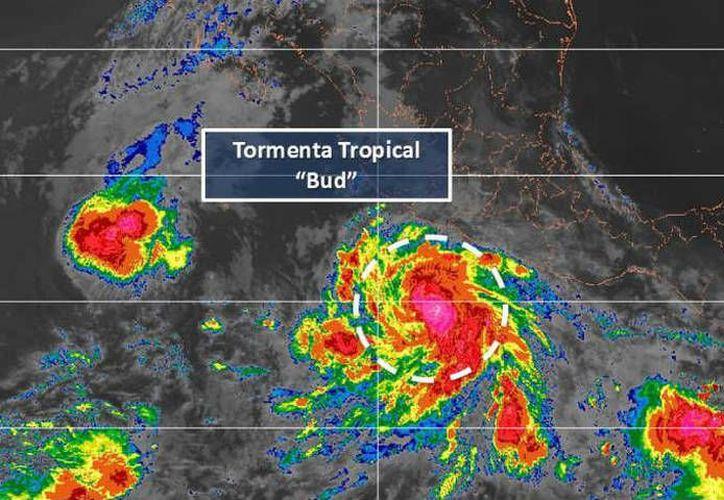 La tormenta tropical se desplaza hacia el noroeste a 15 kilómetros por hora. (Twitter)