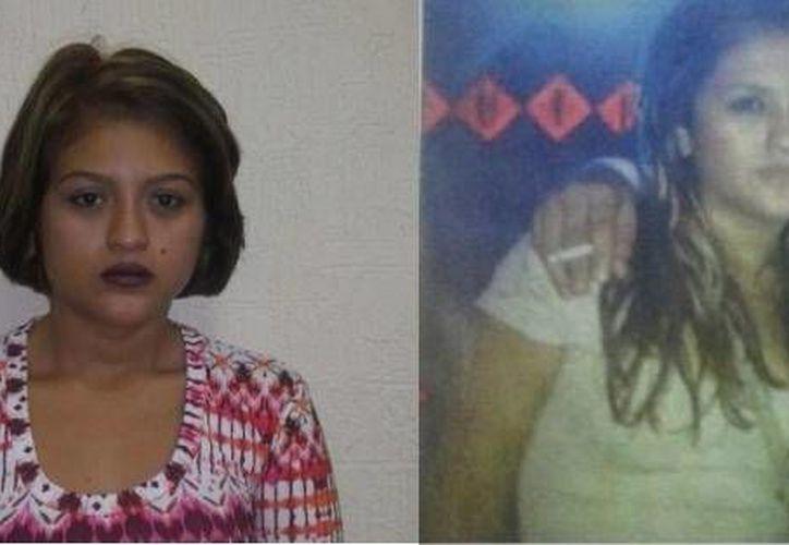 María Fernanda, (a) 'Sarai, detenida en Cancún por el secuestro en Valladolid del hijo de un joyero, era la única integrante de una banda criminal a la que faltaba por atrapar. Aquí se muestra cómo era antes (d) y cómo cambió para despistar a las autoridades. (Milenio Novedades)