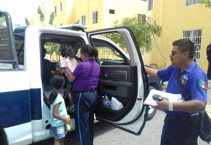 Las menores fueron trasladadas al DIF de Cancún. (Redacción/SIPSE)