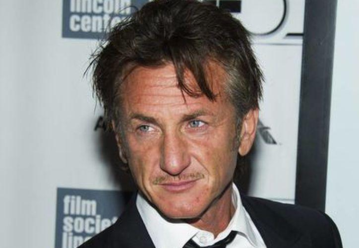 Sean Penn en el estreno de 'The Secret Life of Walter Mitty' en el Festival de Cine de Nueva York el sábado 5 de octubre. (Agencias)