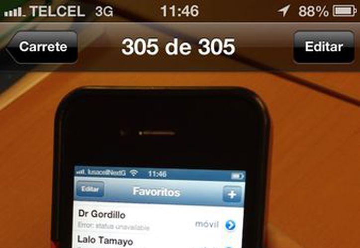 En los contactos de whats app aparece como: Error: status unavailable. (SIPSE)