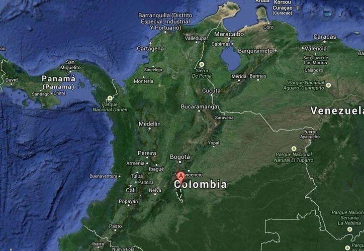 El accidente fatal ocurrió en una zona rural del municipio de Mesetas, a unos 150 kilómetros al sur de Bogotá, Colombia. (Google Maps)