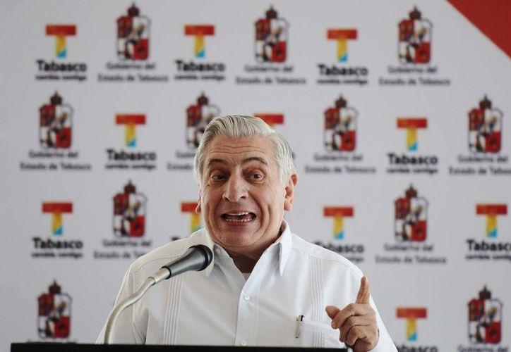 Arturo Núñez, gobernador de Tabasco, estado cuya deuda asciende a 17 mil 737 millones de pesos. (Archivo/Notimex)