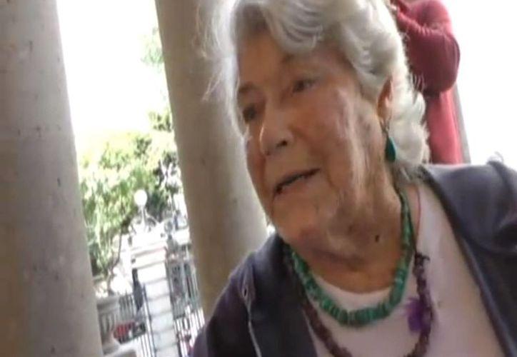 """Beatriz """"Tita"""" Braniff Cornejo fue pionera en el estudio de las Culturas del Norte mexicano. Falleció este viernes a los 88 años de edad. (Captura de pantalla)"""