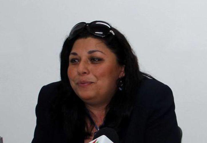 Verónica García Rodríguez al informar sobre los detalles del evento que se realizará. (Milenio Novedades)