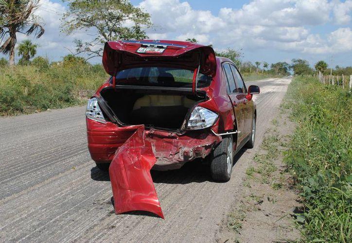 El accidente ocurrió en el tramo carretero Tizimín-Río Lagartos. (SIPSE)