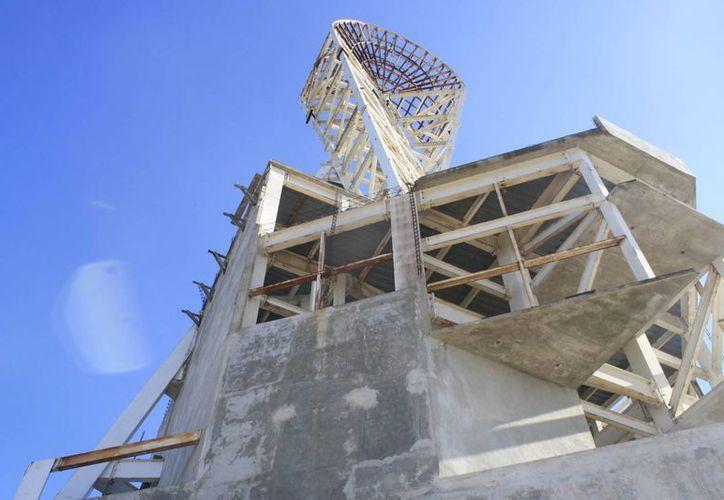 La mega escultura fue construida hace una década con una inversión de 100 millones de pesos. (Archivo/SIPSE)