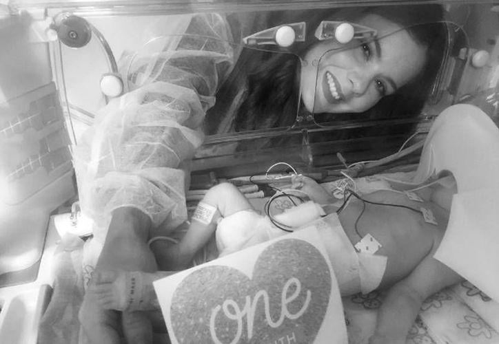 Imagen que el cantante Wisin difundió en su cuenta oficial de Instagram, para informar de la muerte de su hija, recién nacida, Victoria, quien padecía un mal genético.