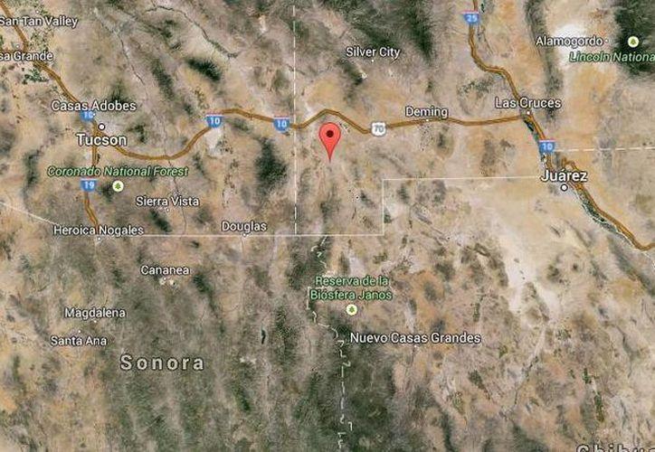 El choque que cobró la vida de seis personas ocurrió cerca de la frontera con México. (Google Maps)