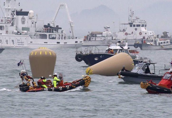 Con sólo 174 sobrevivientes de los 476 pasajeros del ferry, las probabilidades de encontrar más personas con vida se reducen cada hora en  uno de los peores desastres marítimos de Corea del Sur. (AP)