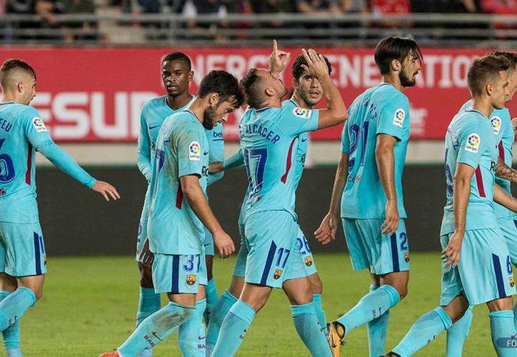 En el segundo tiempo Barcelona marcó la diferencia con dos goles en 10 minutos. (Foto: AFP)