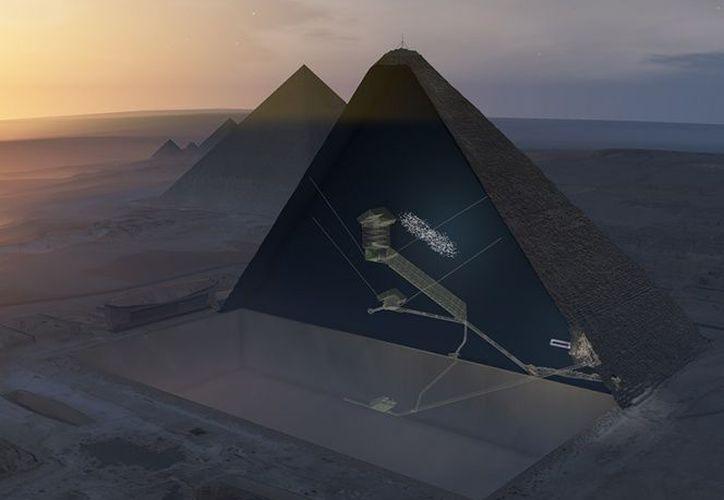 El hueco de 30 metros en lo profundo de la pirámide está situado encima de la Gran Galería. (Foto: Excélsior)