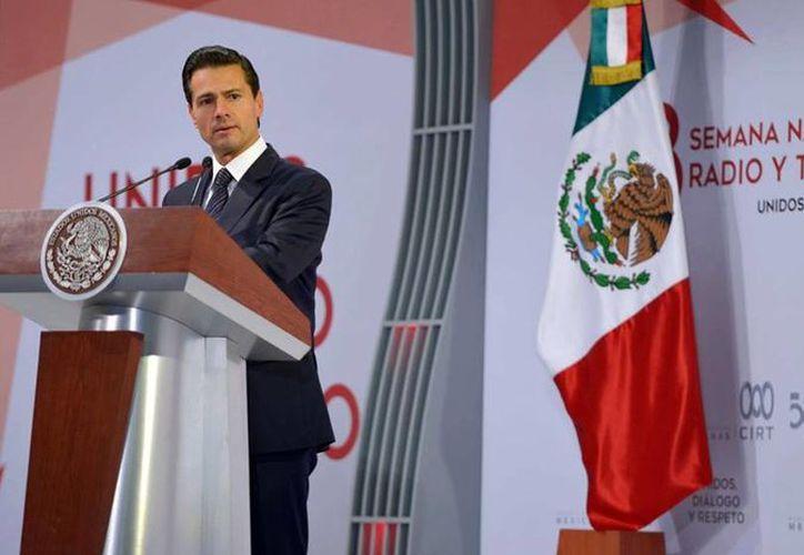 Peña Nieto participó este jueves en la 58 Semana Nacional de Radio y Televisión. (Facebook/EPN)