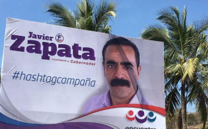 Aparece espectacular de candidato en Nayarit con error
