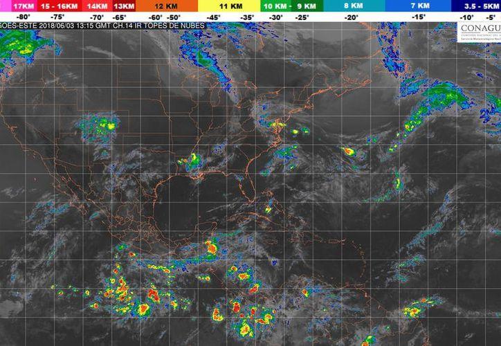 Se prevé un cielo nublado por la tarde con tormentas puntuales fuertes en la Región. (Conagua)