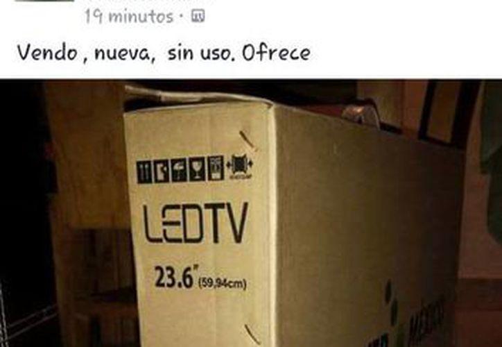 Los televisores, entregados por la Sedesol, pueden ser escaneados con un código y encontrar al propietario. (Cortesía/Facebook)