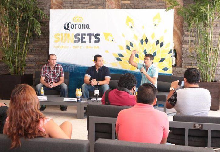 En conferencia de prensa se anunció el programa del Corona Music Festival. (Adrián Barreto/SIPSE)
