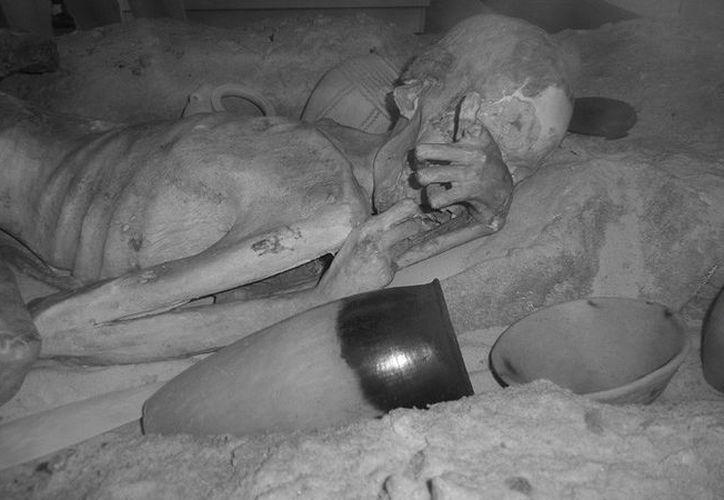 """Imagen infrarroja del tatuaje de la momia conocida como """"Gebelein Man"""". Foto: Museo Británico en Londres)"""